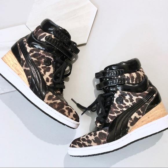 Puma • Mihara MY-77 Leopard Wedge Sneakers 8.5. M 5b17cd6bd6dc5270b2755c5a 208c621e6